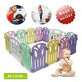 Box per bambini Centro di attività per bambini Parco giochi Sicurezza Cortile interno Interno Nuova penna12+2 pannelli (155X155X60CM)