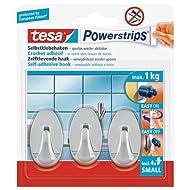 Tesa 57543-00012-01 Spar-Set 4x: Powerstrips® Haken Small Oval chrom SILBER GLÄNZEND Länge/m: 12,00