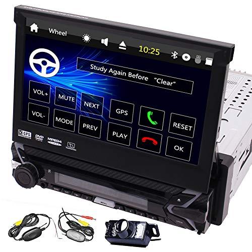 EINCAR Einzel Din GPS Radio 7-Zoll-Bildschirm-Auto-DVD-Spieler in dem Schlag-abnehmbare Panel für Anti-Diebstahl-Head Unit 1 Din Car Audio Unterstützung Bluetooth Freisprech- und SWC FM/AM, AUX 32-zone Control Panel