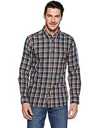 Amazon Brand - House & Shields Men's Checkered Casual Shirt