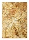 Edition Seidel XXL Premium Notizbuch Weltkarte dunkel-braun Globus Erde Tagebuch Vintage Nostalgie alt Reisetagebuch Blanko-Buch Geschenkbuch DIN A4 Geschenk Hardcover