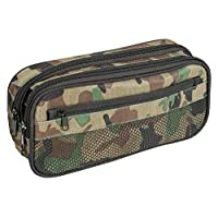 Idena 20056 Pencil Case with 2 Compartments and Leader, Approx. 22 x 11 x 7 cm, Camouflage, Multi-Colour