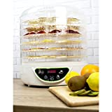 electriQ Food Dehydrator & Dryer - with 6 Collapsible Shelves and 48 Hour Timer