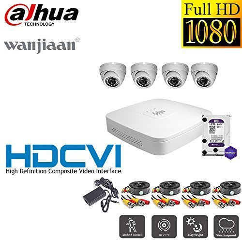 Preisvergleich Produktbild Dahua HCVR with SecureHome 3.6mm Fixed Dome Camera incl. 1TB WD Purple