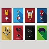 #10: AdINFINITUM 300GSM Marvel Superhero Printed Paper Poster, 9x13 Inches(Multicolour, 84) - Set of 8