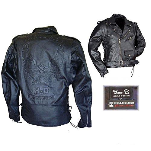 buy online d3914 81437 Biker Giacca pelle Aigle H-D/Hells-Design - Negozio di ...
