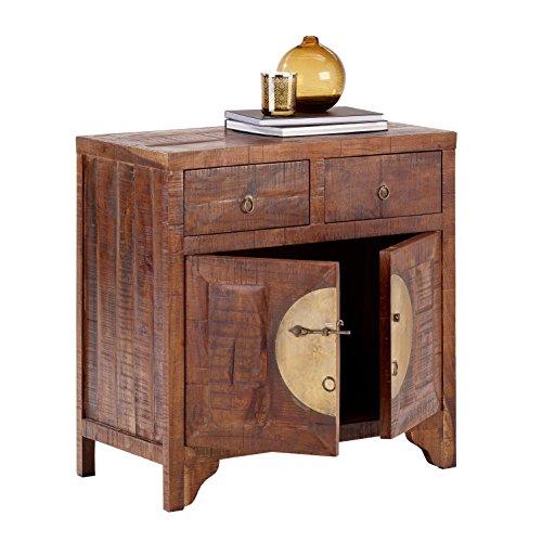 CHINA 8279 Kommode mit 2 Schubladen, 2 Türen, Holz, forest, 42 x 80 x 80 cm