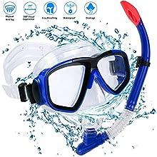 AIMTOP Schnorchel Set Erwachsene Schnorchelset Kinder Tauchset Taucherbrille mit Schnorchel für Herren und Damen Tauchen Schnorcheln Trocken Schnorchelset