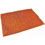 Danapp Puerta de chenilla dormitorio alfombra de microfibra de estar Cocina baño, alfombras antideslizantes (naranja)