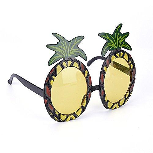 sevenmye Sun Brille für Hawaiian Kostüm Party Spezifikationen Zubehör £ ¬ Hawaiian Beach Summer, vier Stil Ananas