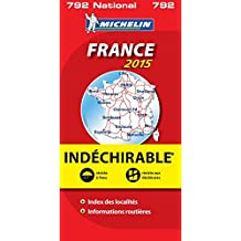 Carte France 2015 Indéchirable Michelin