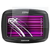 atFoliX Garmin Zumo 340LM CE Glasfolie - FX-Hybrid-Glass Elastische 9H Kunststoff Panzerglasfolie - Besser als Echtglas Panzerfolie