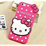 Oppo F3 Plus 3D Cute Cartoon Hello Kitty Soft Silicone Gel Back Cover Case For Oppo F3 Plus (Hello Kitty Pink)