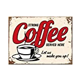 Nostalgic-Art 14343 USA Strong Coffee Served Here, Magnet, 8 x 6  cm