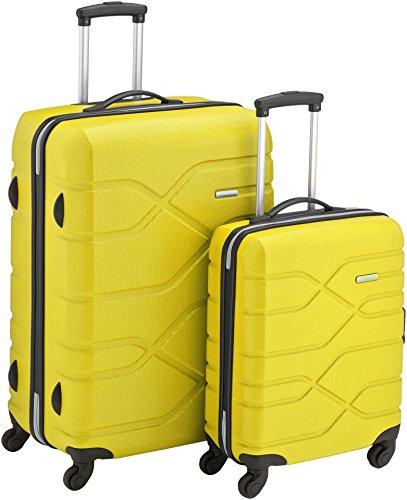 American Tourister Houston City 2 Pc Set B Juegos de maletas, 75 cm, 123 L, Amarillo (Amarillo)