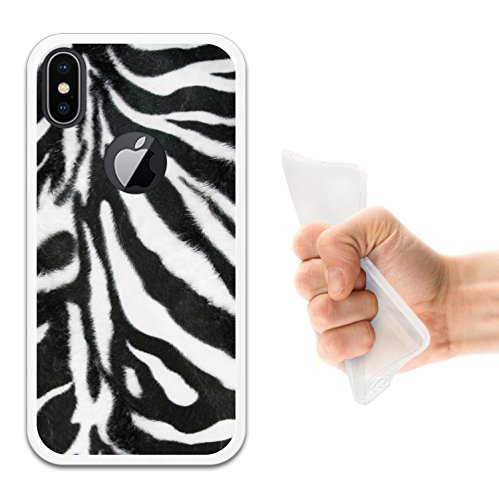iPhone X Hülle, WoowCase Handyhülle Silikon für [ iPhone X ] Fußballfield Handytasche Handy Cover Case Schutzhülle Flexible TPU - Schwarz Housse Gel iPhone X Transparent D0511