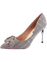 7290302b0dd6d KPHY Scarpe da Donna Ha Testa 8Cm Scarpe con Tacchi Alti Magri E  Superficiale della