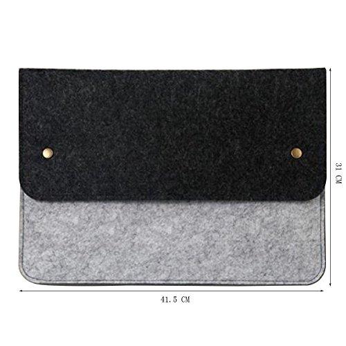 Moollyfox 11/13/14/15 Pollici Laptop Sleeve Felt Busta Copertura Grigio Chiaro Pink