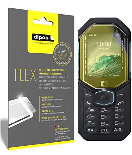dipos I 3X Schutzfolie 100% passend für Crosscall Shark-X3 Folie (Vollständige Displayabdeckung) Displayschutzfolie