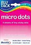 1 x Pack of Bostik Blu Tack Micro Tiny Sticki Sticky Glue Adhesive Double sided Dots. Manufacturer part number: 805972 by Bostik