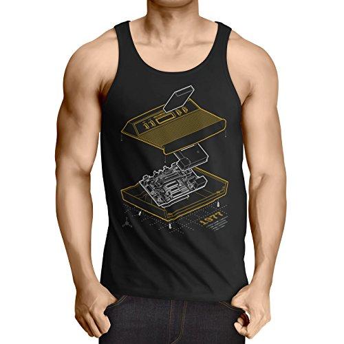 A.N.T. Another Nerd T-Shirt A.N.T. VCS2600 Anno 1977 Débardeur Homme Tank Top Classic Gamer Retro Ordinateur Personnel