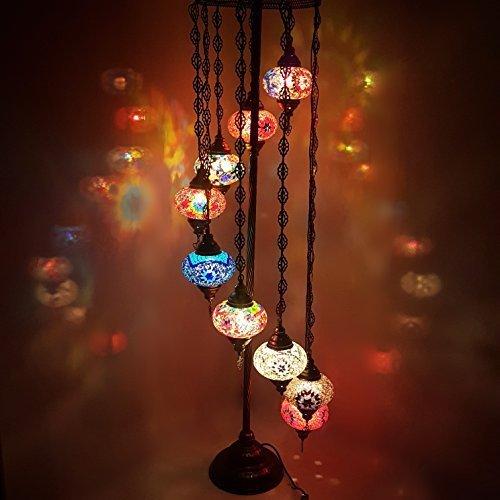 Turkish Moroccan Tiffany Style Glass Mosaic Floor Lamp Night Light - MC_9in1 Floor Lamp