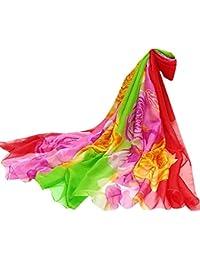 LianMengMVP Femmes dames Écharpe en soie rose Châle écran solaire Écharpes  Infinity Wrap Foulard 195cmX147CM 9a3e40f9398