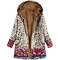 Logobeing Abrigos Invierno Mujer Chaquetas Suéter Jersey Mujer Cardigan Mujer Tallas Grandes Abrigo con Estampado Bolsillos con Capucha de Impresión Caliente Sudaderas