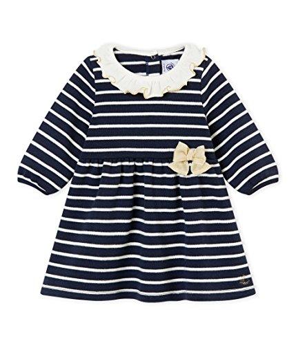 Petit Bateau Baby-Mädchen Kleid Robe ML_4432901, Mehrfarbig (Smoking/Marshmallow 01), 80 (Herstellergröße: 12M/74cm)