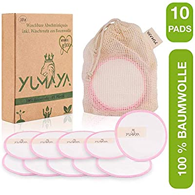 YUMAYA® 10x Abschminkpads waschbar