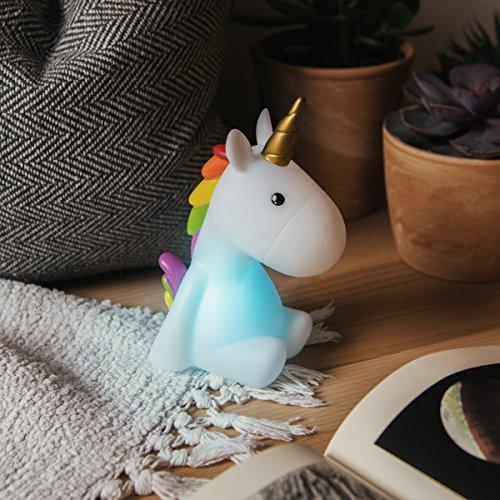 Navaris luce notturna LED unicorno – lampada per bambini lucina da notte per camera bambini con led multicolore cambio colori arcobaleno – bianca - 2