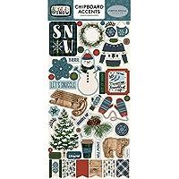 Carta Bella Paper Company Let It Snow 6x12 Accents aglomerado, Rojo, Azul, Azul Marino, Verde, Blanco