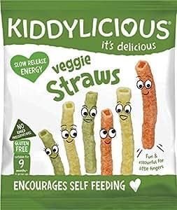 Kiddylicious Veggie Straws, 12 g, Pack of 9