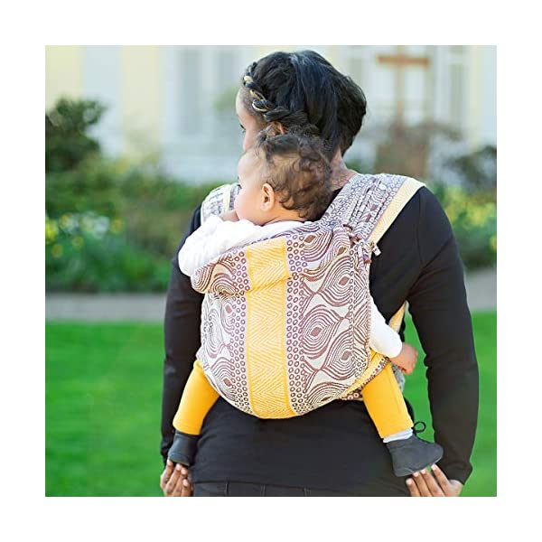 Hoppediz Hop-Tye Conversion Baby Carrier Sling (Timbuktu) Hoppediz The hop-tye conversion is a carrying aid from birth up to approx. 2.5 years You can use the hop-tye conversion for front and rucksack carrying - suitable for a waist up to 160 cm Side parts that can be gathered provide an even better pouch forming of the back panel 6