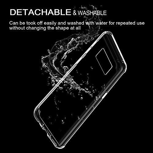 vanki Cover Samsung Galaxy S8 Plus, Galaxy S8 Plus Custodia Morbida di TPU Cristallo Trasparente Sottileb Bordo Proteggi Copertura Completa (Fiori di Ciliegio) (Samsung Galaxy S8 Plus, 7) 10