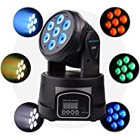 BETOPPER(LM70) Moving head led Professionnel disco DJ lumiere DMX-512 7 * 8W RGBW LEDs eclairage scene karaoke (100W)