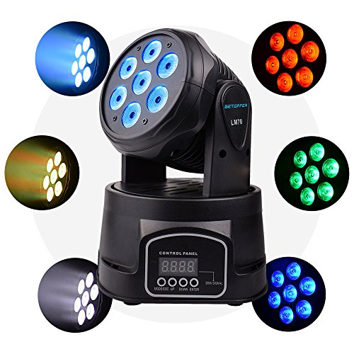 BETOPPER(LM70) Moving Head Disco Licht Dj Licht Led Mini Moving Head Professionell DMX 512 9/16 Kanal 7x8w LEDs RGBW Musik bar Beleuchtung Party