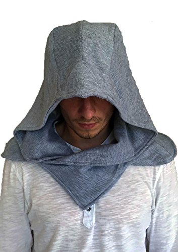 Stealth Hood (All Grey) (Kostüm Creed Assassin's Rogue)