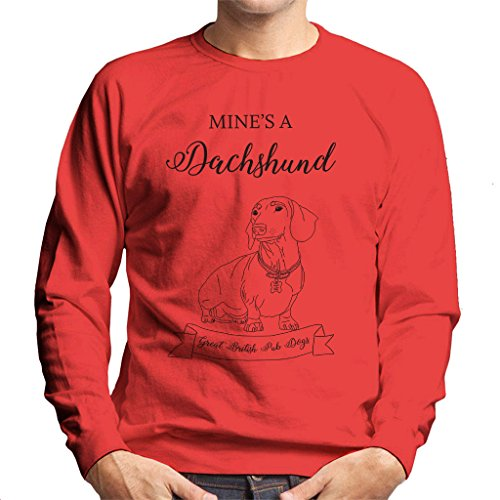 Great British Pub Dogs Mines A Dachshund Men's Sweatshirt