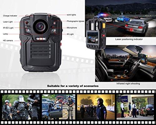 Angin-Tech Cam102 Infrarot-Nachtsicht HD 1080P Polizei Körper getragen Videokamera Sicherheit IR-Cam Eingebauter GPS-Unterstützung Bewegungserkennung + 16GB TF-Karte (mit Karte 16GB TF) - 5