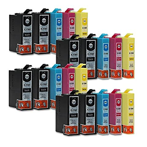 20 Druckerpatronen kompatibel zu Epson T1306 (8x Schwarz, 4x Cyan, 4x Magenta, 4x Gelb) passend (Colori A Getto D'inchiostro Di Ricambio)