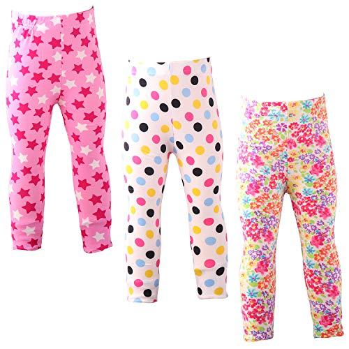 Snyemio Pantalones Leggings Elásticos Medias Niñas