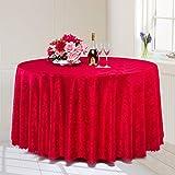 *linge de cuisine Nappe ronde, Tissu à table ronde à l'hôtel Tissu à café Tissu à table ronde Nappe ronde ( Couleur : Rouge , taille : Round-180cm )