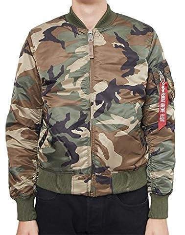 ALPHA INDUSTRIES Herren Jacken MA- 1 VF 59 camouflage 191118 408 grün L