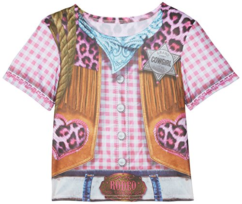 Rubie's 2630864L Cowgirl T-Shirt Child, Kostüm für Kinder, L