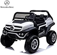 Dorsa Mercedes Benz 4x4 Off-Road Electric ATV Unimog Kids Ride On Car with Remote Control, 2 Seaters, 2 Motors