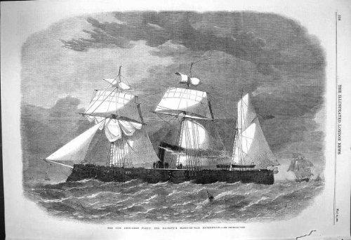 1864 Eisengepanzertes Flotten-Königin-Schiff Schaluppe-Von-Krieg Unternehmen