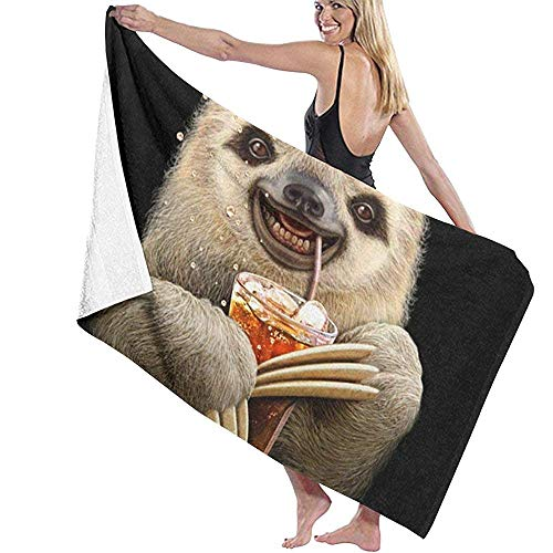 W-wishes Badetuch Wrap Slothdrinking Co-Ca Cola Prints Spa-Dusche und Wrap Handtücher Bademantel vertuschen
