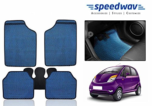 Speedwav Odourless Car Floor/foot Mats 5 Pcs Set Blue-tata Nano