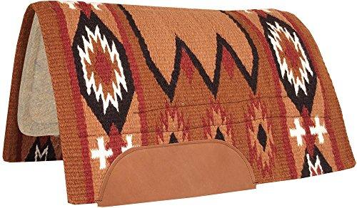 Southwestern Equine Wolle Pferd Show Decke Laredo Navajo Sattel Pad 100% Neuseeland Wolle Top Decke, Rust/Black -